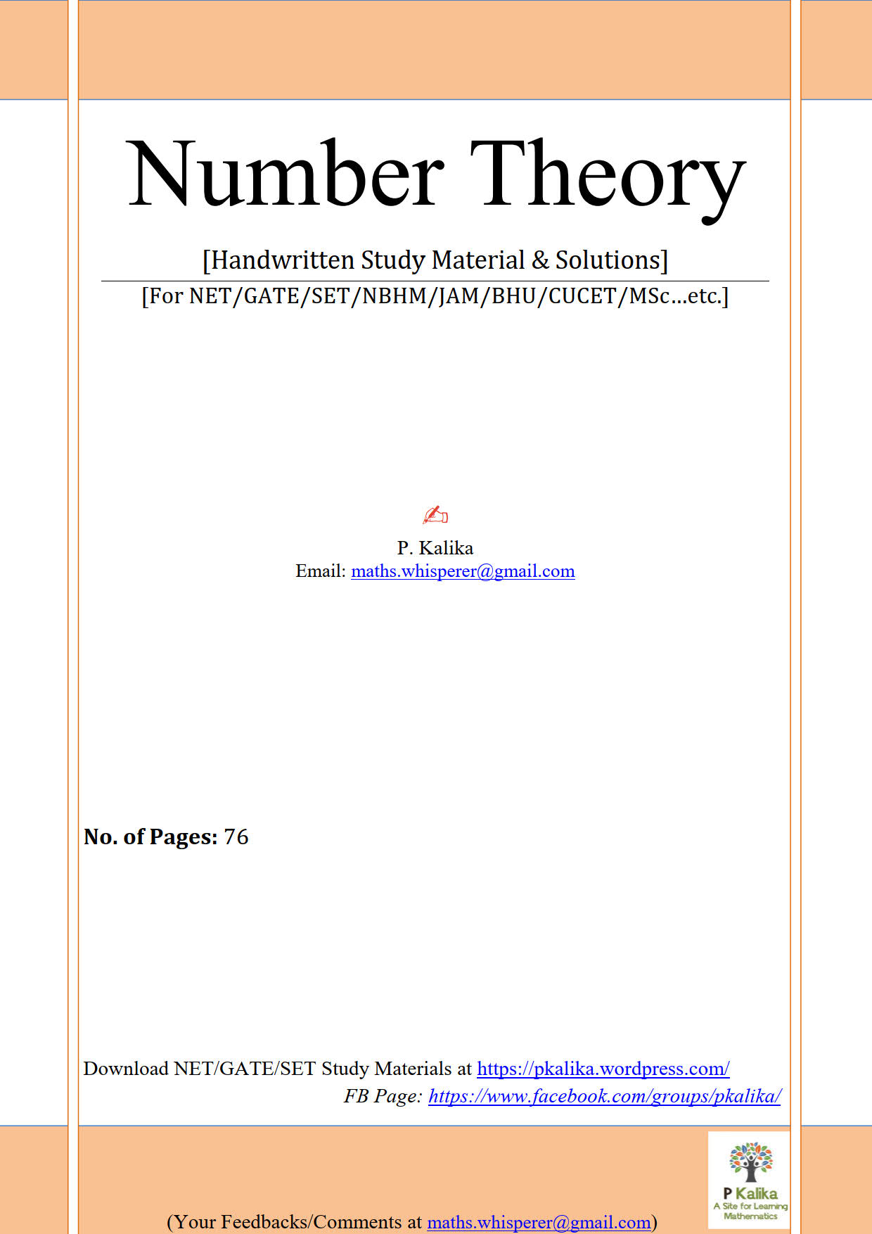 Number Theory 76Pages(Kalika)_1