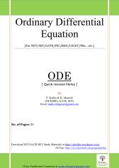 Quick revision ODE_1