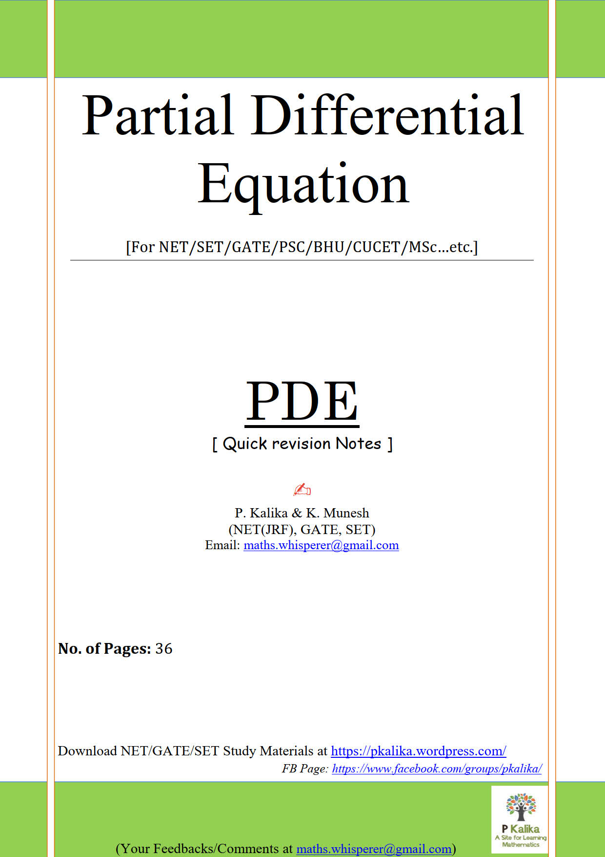 Quick revision PDE_1