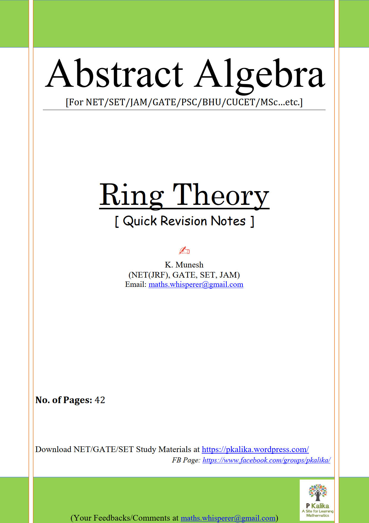 Ring Theory Quick Revision 40Pages_1
