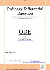ODE Full Notes