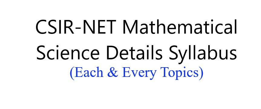 NET Syllabus