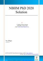 NBHM PhD 2020 Solution_1